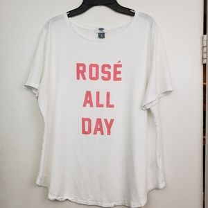 """Old Navy """"Rose' All Day"""" graphic Tee sz XL"""